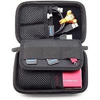 NEXGADGET Organizador Portátil Bolsa para Accesorios Electrónicos de Viaje Impermeable Funda Portable para Discos Duros Cables Usb Auriculares Móviles Cargadores Accesorios Digitales -Negro