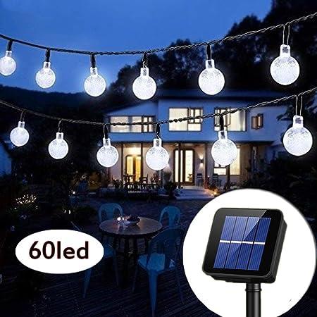 Wedding Fairy Lighting Outdoor Solar Lamp Waterproof String Lights Crystal Ball