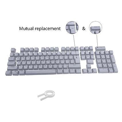 Bossi 104 teclas PBT Keycaps retroiluminado nalienfusion teclas para teclado mecánico para Cherry MX Interruptor Gris