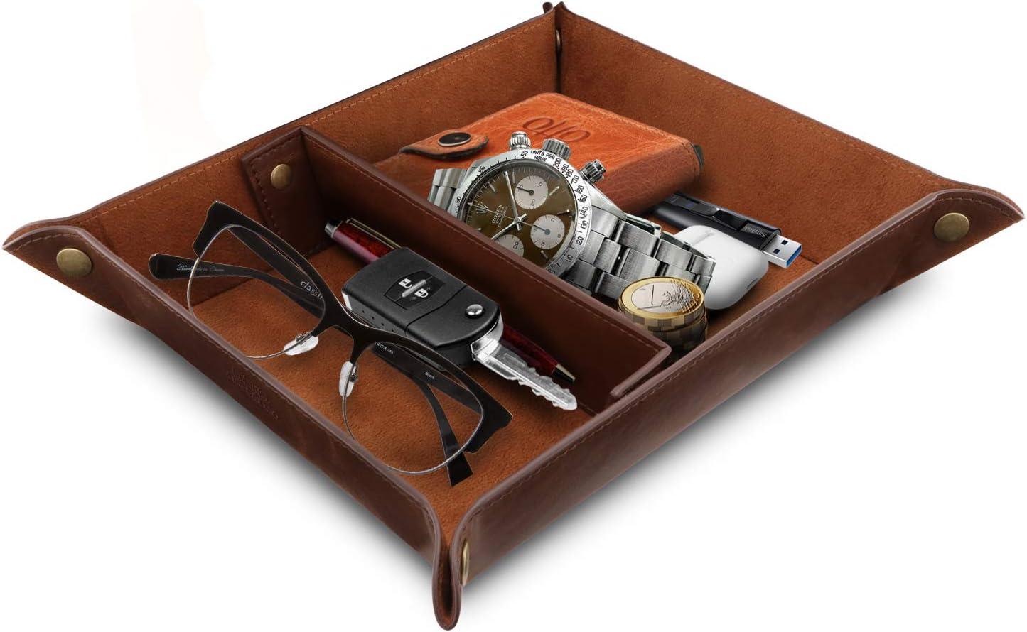 Londo Leather Organizer Office Desk Tray