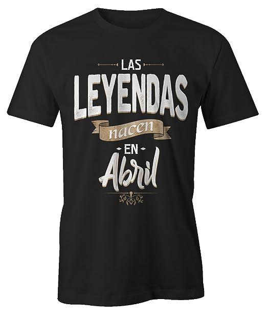 Las Leyendas Nacen en Abril Camiseta de Cumpleaños Hombres