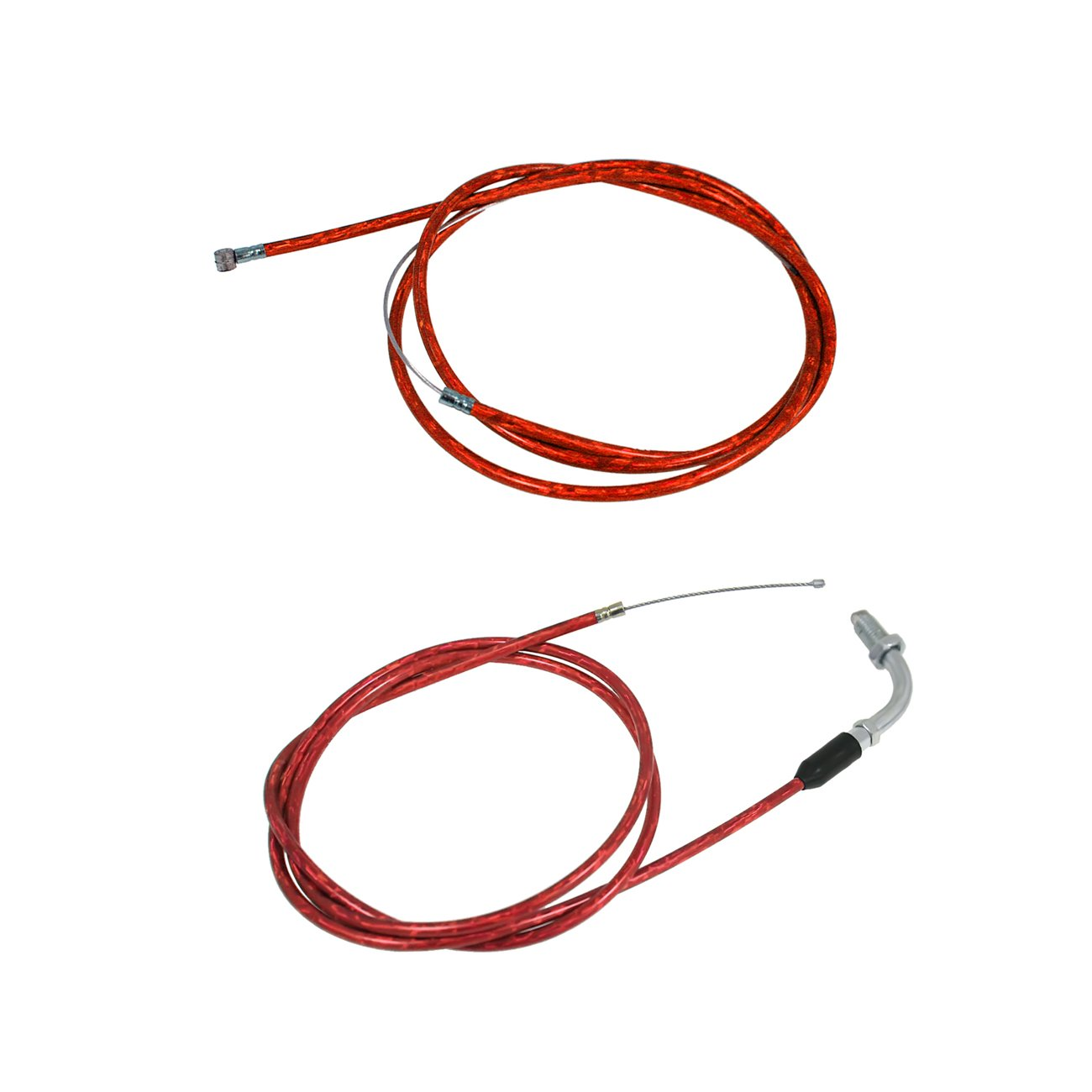 JRL Red Clutch Line & Throttle Cable Fit 49cc 60cc 66cc 80cc Engine Motorized Bike Huang Machinery