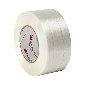 60 yd 0.0065 Thickness 2.25 Width TapeCase 1339 2.25 x 60yd Translucent Polyester Film//Glass Filament 3M Reinforced Electrical Tape 1339 Length 266 degrees F Performance Temperature