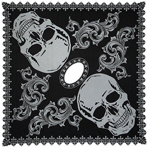 Heritage Lace Halloween Skull Poncho Costume, Hawthorne Gardens, 58