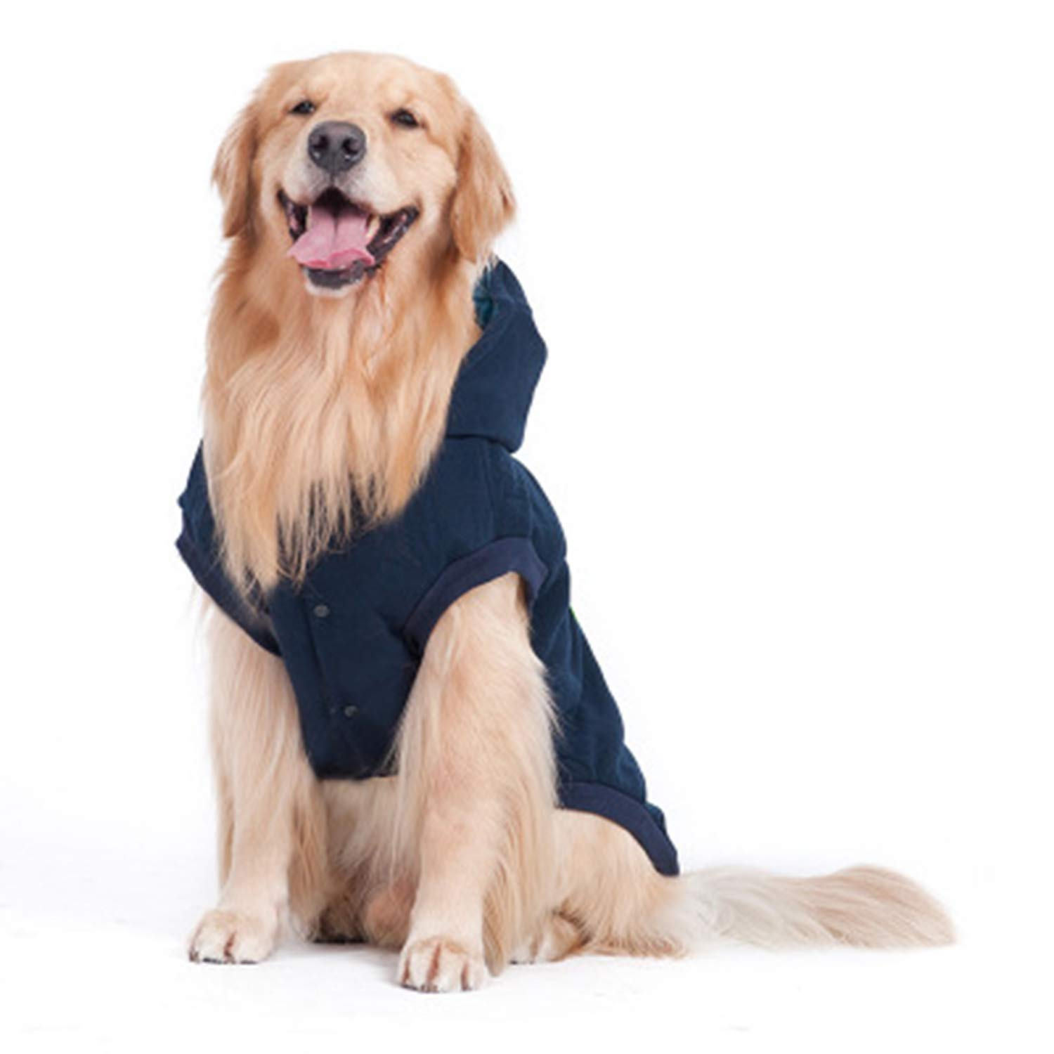 bluee 5XL bluee 5XL Dog Clothes Big Dog Autumn and Winter Clothing Medium and Large Dogs golden Retriever Husky Samoyed Pet Clothing