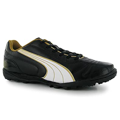 Mens Puma Football Boots Kratero Astro Turf Trainers Gld All Mens Black White