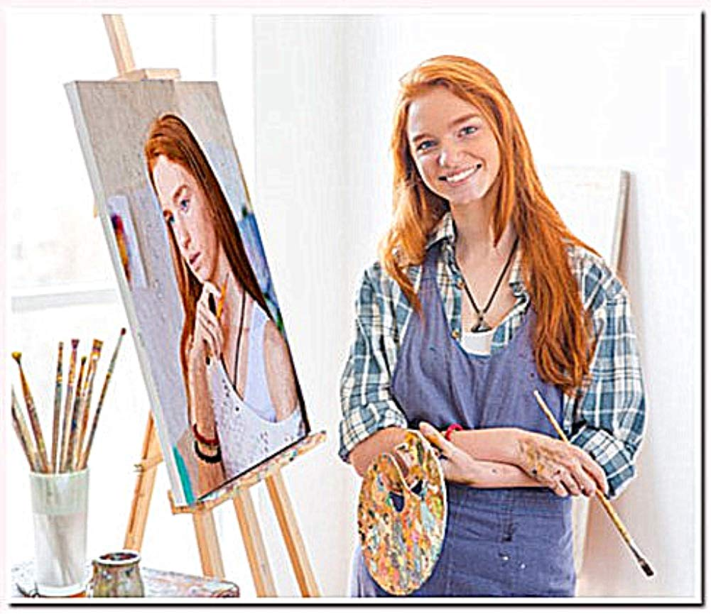 YEESAM ART Customize''Paint by Numbers Kits'' with Your Own Photos Pictures, Personalized Custom Photo DIY Number Painting for Adults Linen Canvas (with Frame, 16''x20'') by YEESAM ART