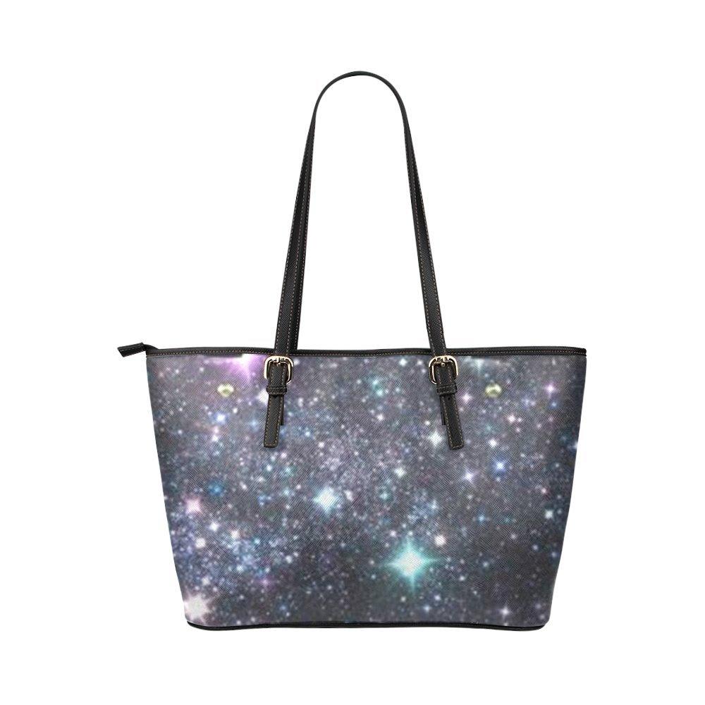 Starry Sky Night Glitter Tote Bag Purse Handbag For Women Girls