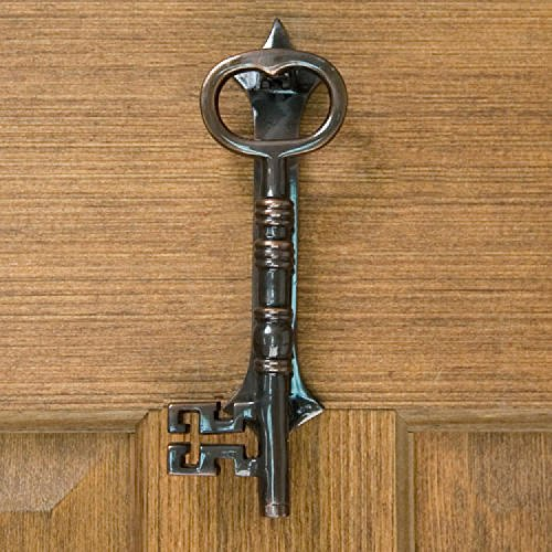 Height Bronze Door Knocker (Casa Hardware Large Key Brass Door Knocker - Dark Oil Rubbed Bronze)