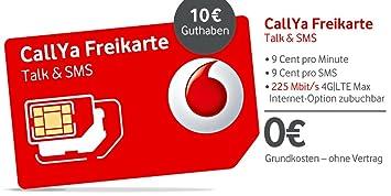 Callya Sim Karte.Callya Talk Sms Triple Sim Karte Mit 10 Eur Amazon De Elektronik