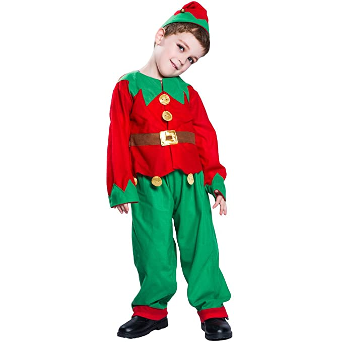 EraSpooky Niño Niña Infantil Duende Navidad De Papá Noel Ayudante ...
