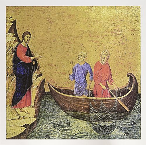 Card Set Calling (3dRose The Calling of The Apostles Peter and Andrew 6 x 6 Inches Greeting Cards, Set of 12 (gc_130047_2))