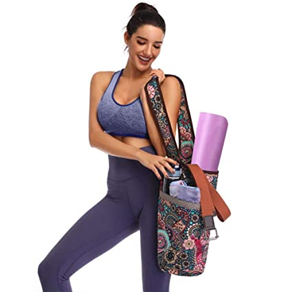 SunniY Bolsa De Colchoneta De Yoga para Mujer, Bolsa De Tela ...