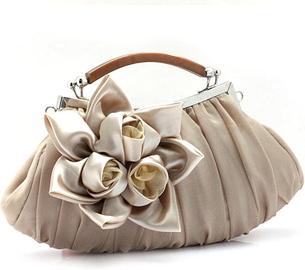 Thenice Womens Silk Flowers Wedding Evening Bags Clutch