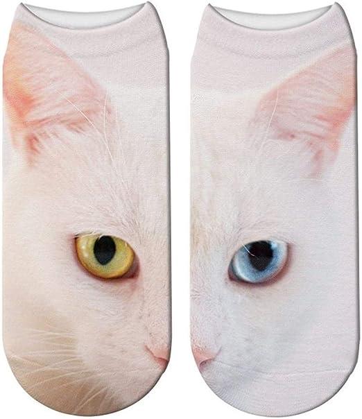 Calcetines Nuevo diseño del gato de la impresión 3D calcetines de ...