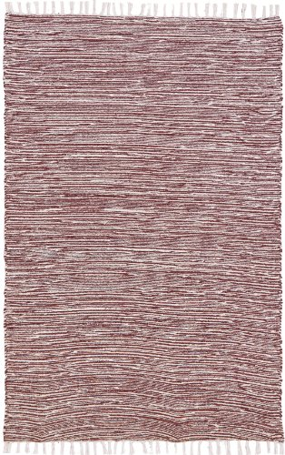 Complex Chenille Flat Weave Rug, 3-Feet by 5-Feet, - Color Pink Brown