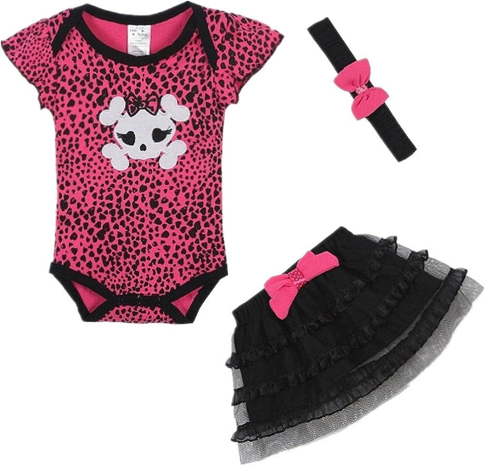 LittleSpring Baby Girls Clothing Set Skull