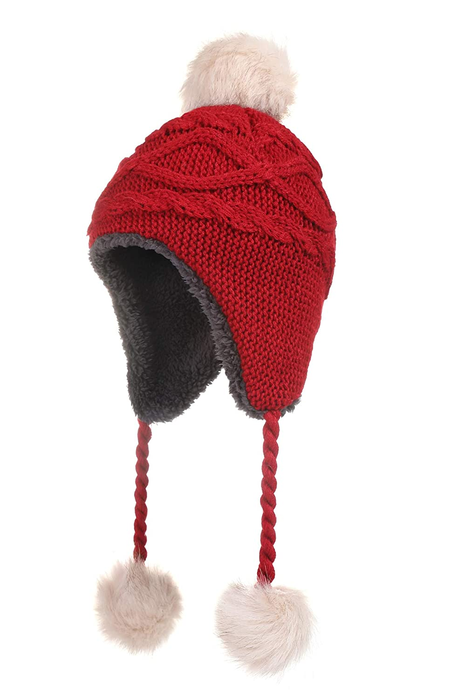 Amazon Jastore Toddlers Girls Warm Knit Earflaps Hat Kids