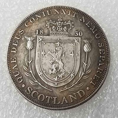 KaiKBax Best Morgan US Dollars - Scottish Shield US Plated Old Coin -1830 UK Coin Collecting - US Dollar Old Coin: Toys & Games