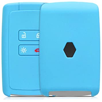 kwmobile Funda de Silicona para Llave Smart Key de 4 Botones para ...