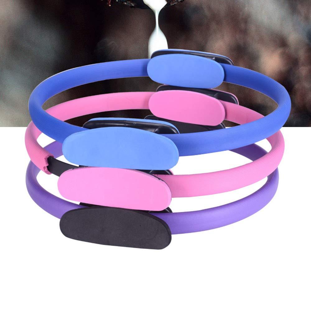 CRAZYON Pilates Bague Bague de Fitness Fitness Magic Circle Exercice ou pour tonifier Les Cuisses, ABS et Pieds Violet