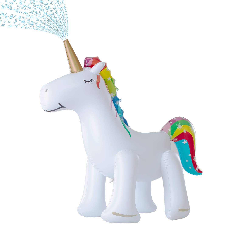 Leader Accessories Unicorn Sprinkler Inflatable Water Toys & Splash Play Mat (Unicorn Sprinkler 5.8ft) by Leader Accessories