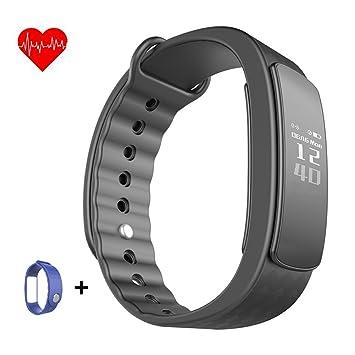 Pulsera inteligente, wisdomstar pulseras impermeable podómetro pulsera de actividad con monitor de frecuencia cardíaca de