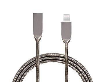 Cable USB tipo C muelle metal cargador Samsung galaxy S8 ...