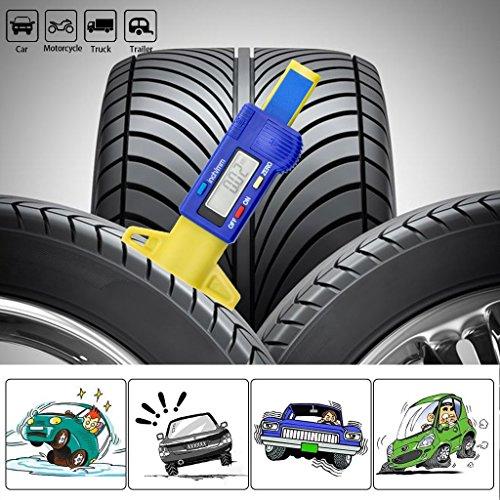 OLLGEN Mini Handheld LCD Digital Tire Tread Depth Gauge,Digital Tyre Gauge Meter Measurer,LCD Display Tread Checker Tire Tester Car Caliper 0-25.4mm Zero Setting Metric/Inch System Interchange by OLLGEN (Image #3)