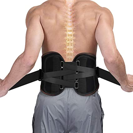 5a7556c858 Lower Back Brace- Lumbar Support Waist Backbrace for Back Pain Relief -  Compression Belt for