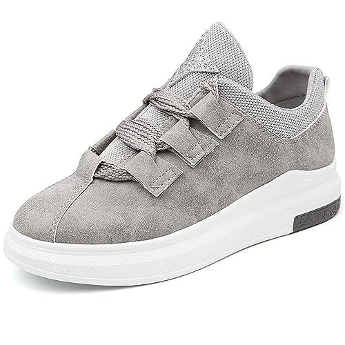Zapatos de Plataforma de cuña para Mujer Atan para Arriba Pisos de Mocasines Base Casual Transpirable Zapatillas Calzado Deportivo: Amazon.es: Zapatos y ...