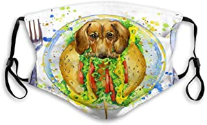NYNELSONG Adjustable and Replaceable Outdoor Shield Funny hot Dog Fast Food Splash Watercolor Textured Background Reusable Cover