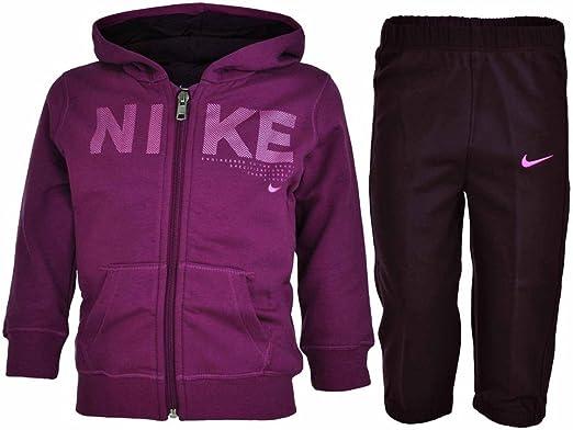 Nike Kids track suit baby bebé chándal púrpura, Tamaño:24 - 36 M ...