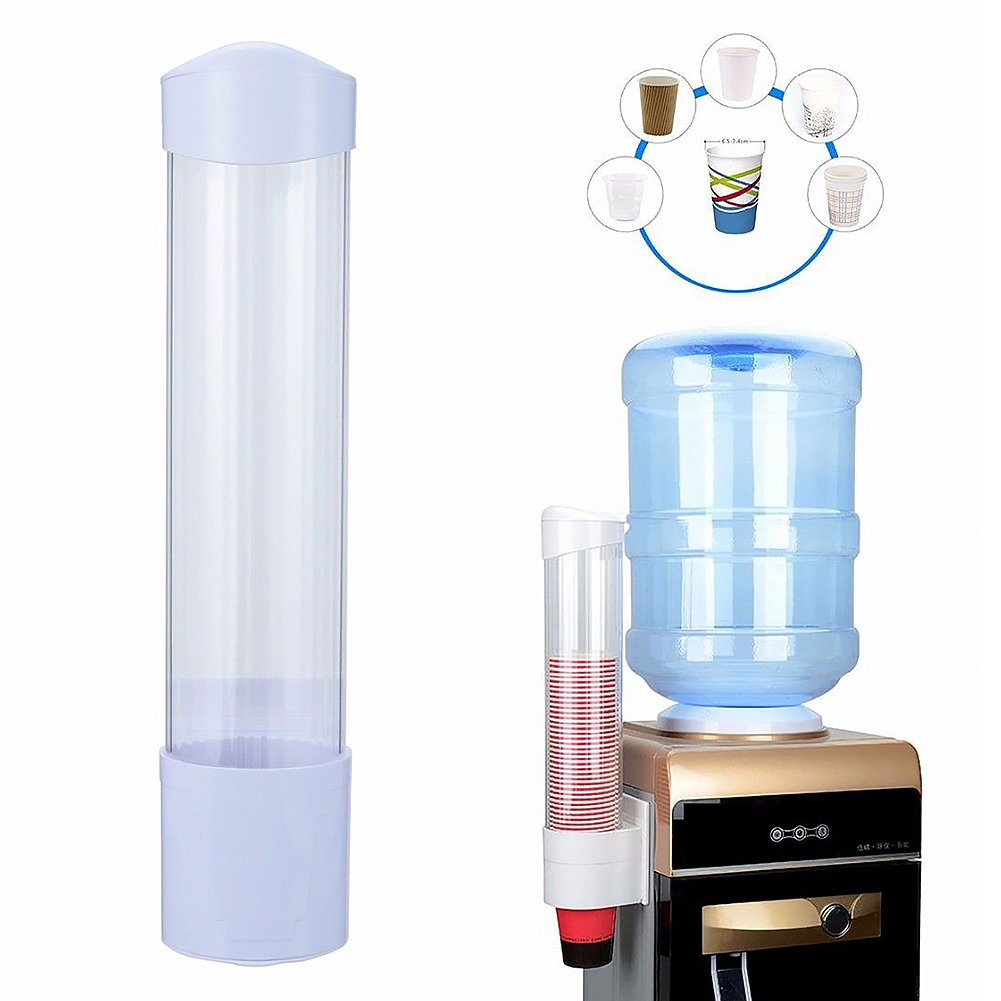 Amazon.com: Paper Cup Dispenser, 60 Cups Wall Mounted Anti Dust Plastic Water Cup Holder for Biodegradable Paper Cones & Cup(Black): Industrial & Scientific