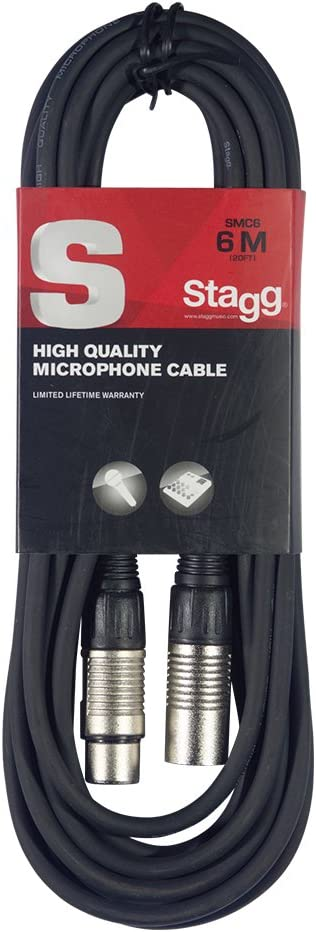 Stagg SMC6 6 metre standard microphone cable: Amazon.co.uk: Musical Instruments