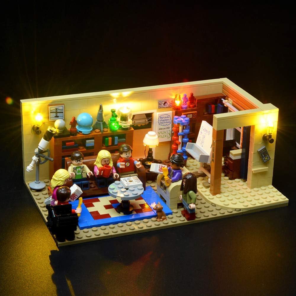 BRIKSMAX Kit de Iluminación Led para The Big Bang Theory-Compatible con Ladrillos de Construcción Lego Modelo 21302-Juego de Legos no Incluido