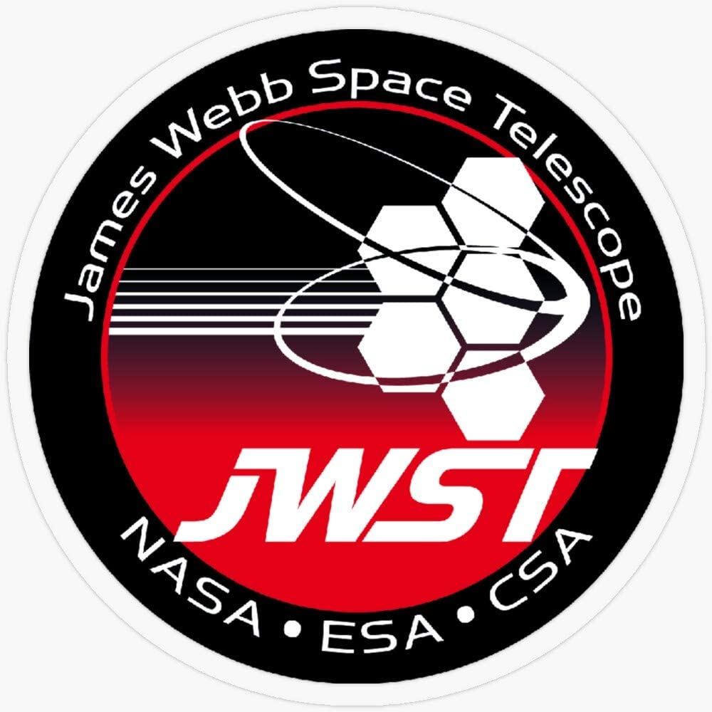 "Lplpol Stickers James Webb Space Telescope Program Logo Gift Decorations 5.5"" Vinyl Stickers, Laptop Decal, Water Bottle Sticker"