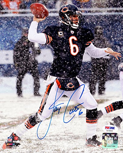 Cutler Photo - JAY CUTLER AUTOGRAPHED 8X10 PHOTO CHICAGO BEARS PSA/DNA STOCK #102499