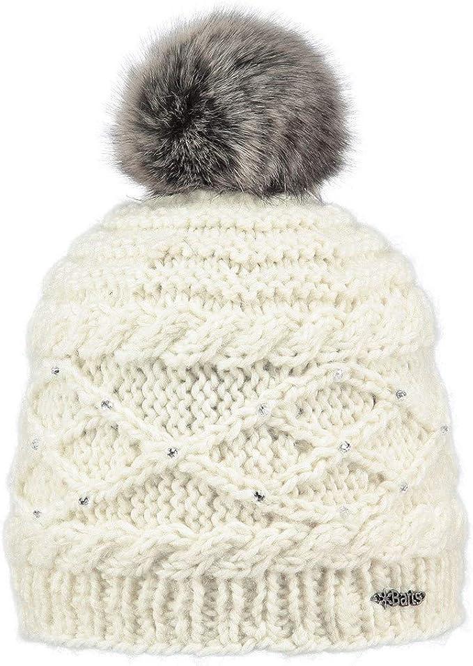 BARTS Mütze Beanie Strickmütze Winter Damen teil-gefüttert warm CANDICE beige