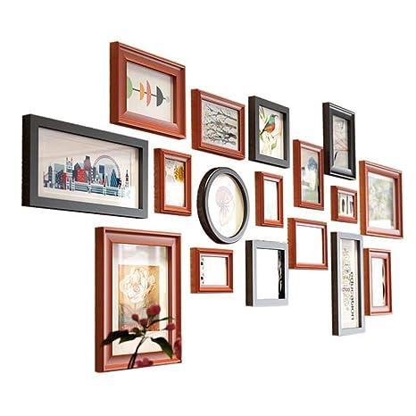 Conjunto de Marcos para Fotos Moderno Paquete de 17 Marcos para múltiples Fotos Marcos de Pared