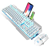 SOLUSTRE Draadloze Gaming Toetsenbord Muis Backlight Computer Game Muis Computer Accessoires Geschenken Voor Office…