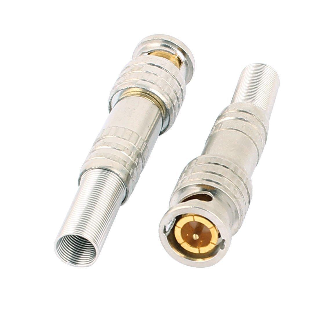 Amazon.com: eDealMax 10 piezas de Primavera chapado en oro BNC Conector Macho Para CCTV Cámara Cable coaxial: Electronics
