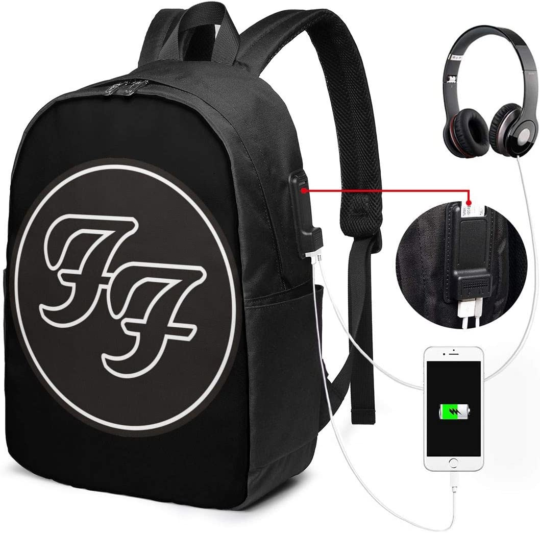 17 Inch Laptop Backpack Dave Grohl with USB Charging/&Headphone Port Large for Men and Women