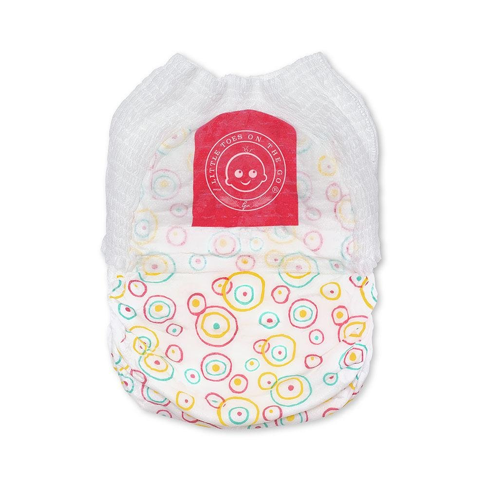 Little Toes Natural Disposable Swimmy Diapers Small, 12 Count