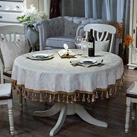 Huifang Nappe Ronde Nordique Grande Table En Tissu Table Basse