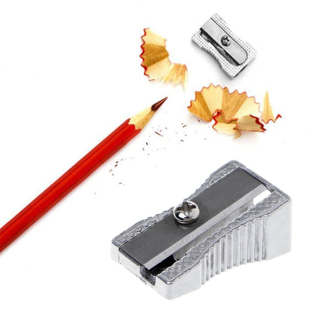 Nkysm metallo singolo foro smussato temperamatite scuola ufficio fornitura di cancelleria Gift