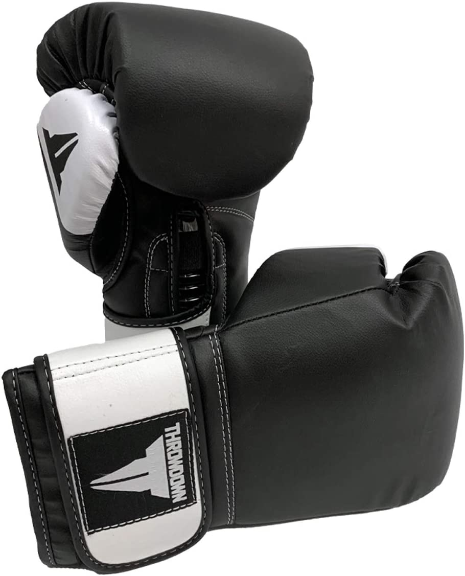 Throwdown Fitness, Boxing, Kickboxing, and MMA Hiitman Gloves for Sparring, Training, and Heavy Bag Workout