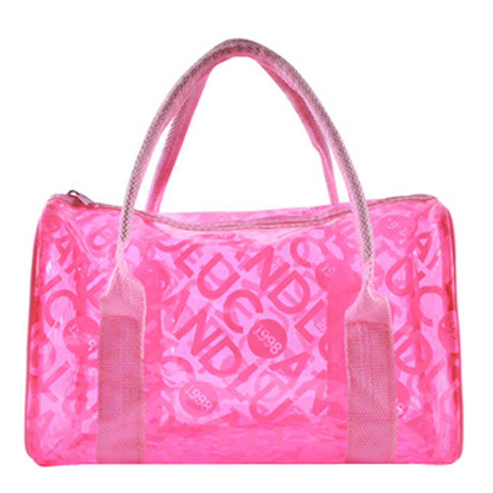 Donalworld Women Summer Clear Beach Candy Waterproof Handbag Pillow Bag Lpink by Donalworld (Image #1)