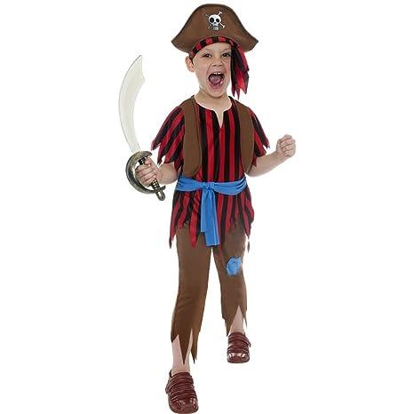 Traje de pirata o corsario para niños disfraz bucanero ...