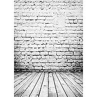 Qian Photography Backdrops Vinyl Photo Background White Wall Studio Props 5x7ft jp060